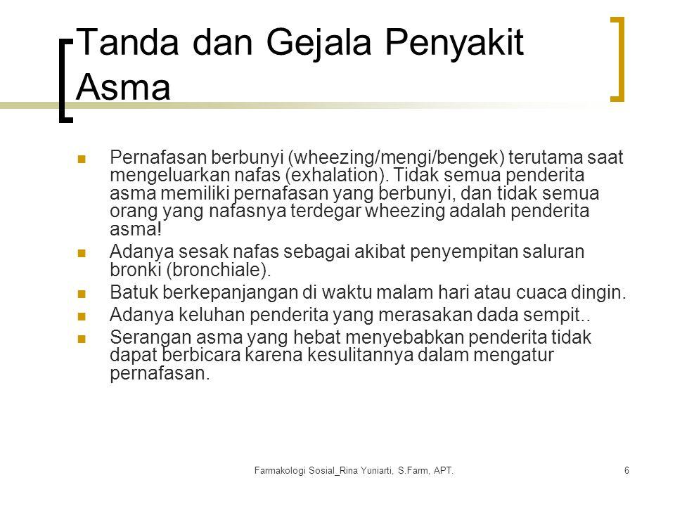 Tanda dan Gejala Penyakit Asma
