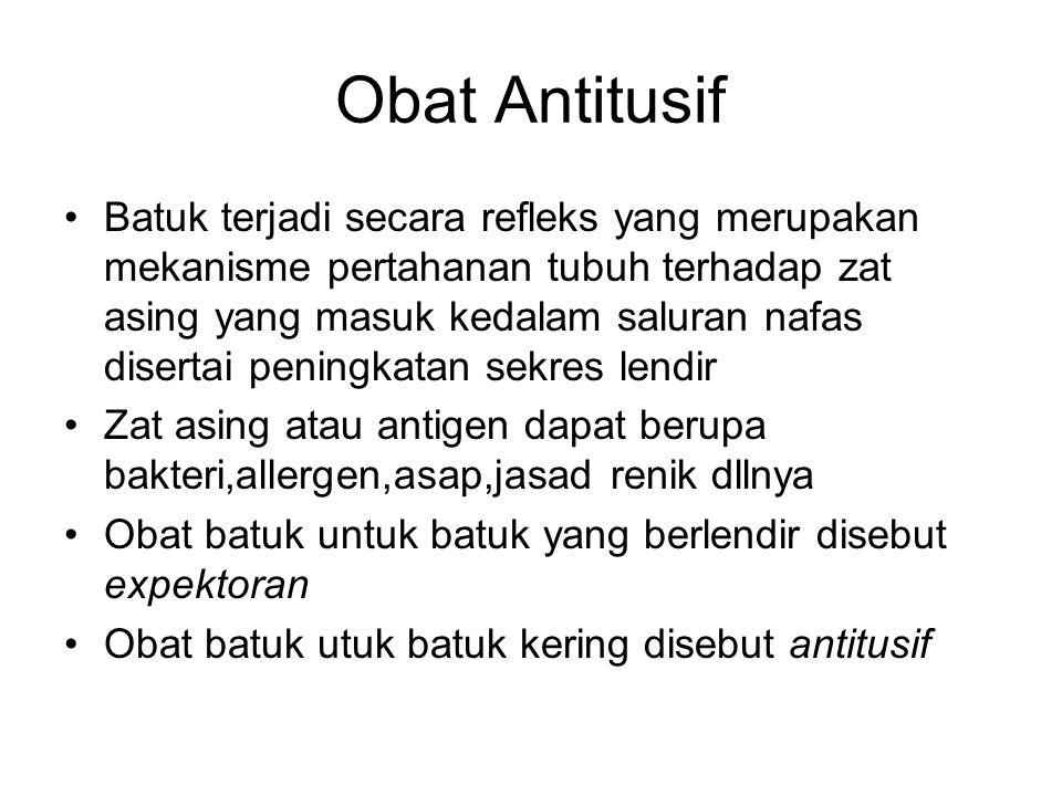 Obat Antitusif