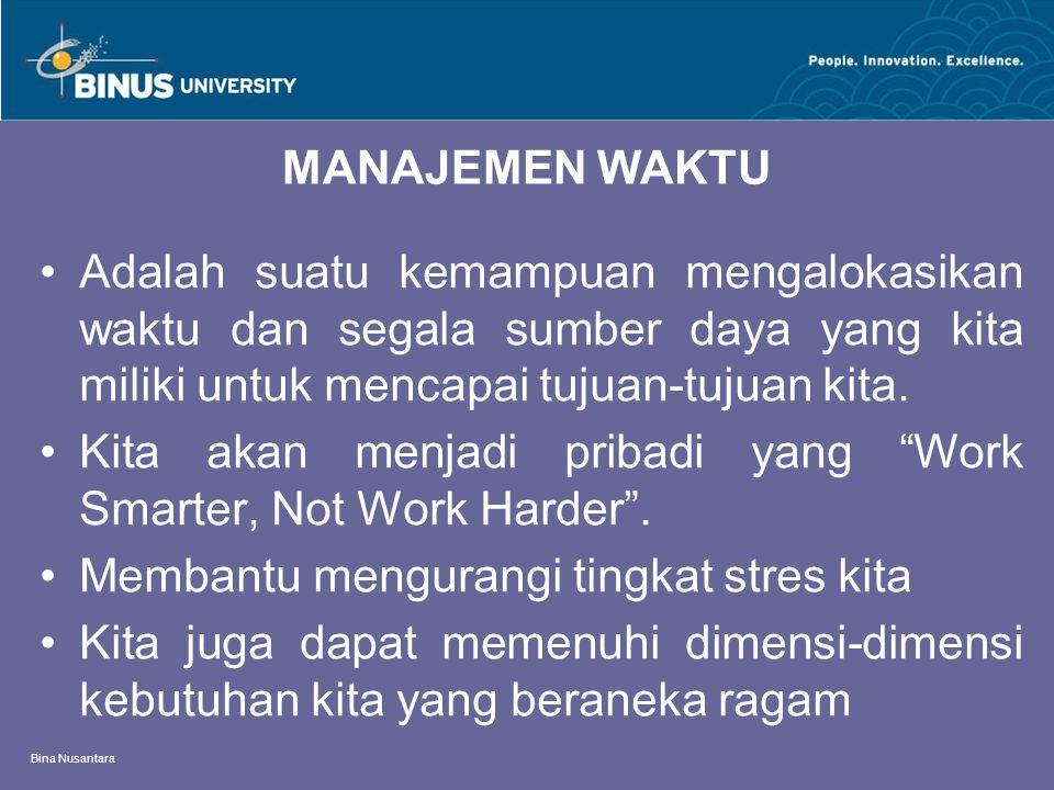 Kita akan menjadi pribadi yang Work Smarter, Not Work Harder .
