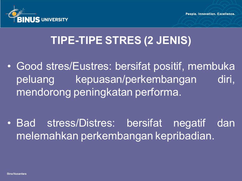 TIPE-TIPE STRES (2 JENIS)