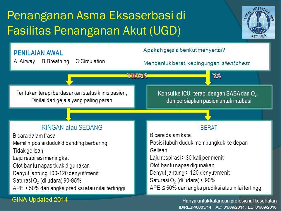 Penanganan Asma Eksaserbasi di Fasilitas Penanganan Akut (UGD)