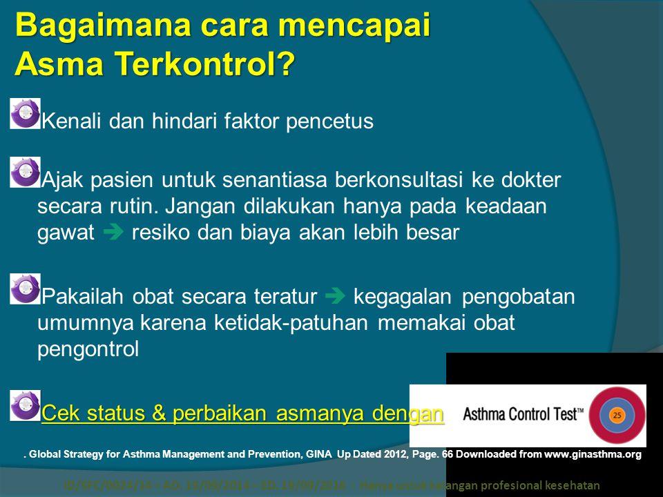 Bagaimana cara mencapai Asma Terkontrol