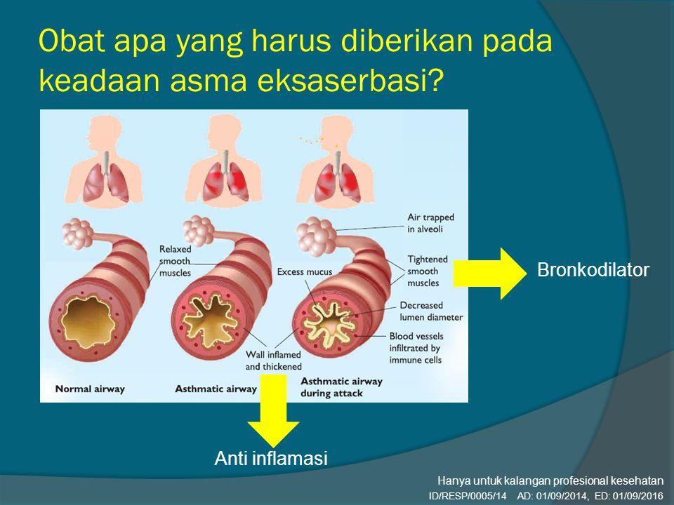 Obat apa yang harus diberikan pada keadaan asma eksaserbasi