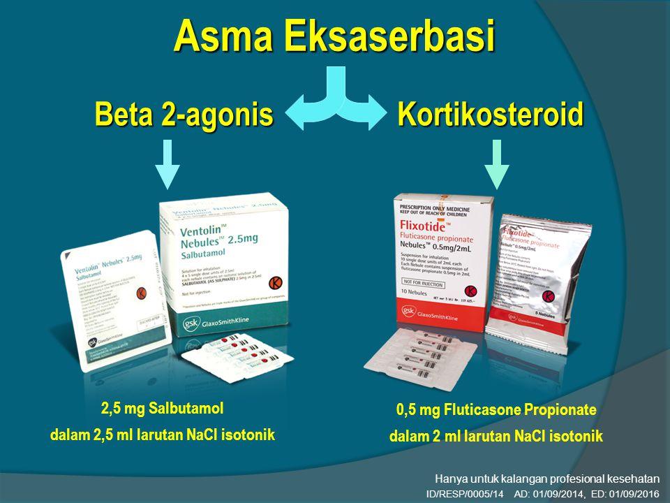 Asma Eksaserbasi Beta 2-agonis Kortikosteroid 2,5 mg Salbutamol