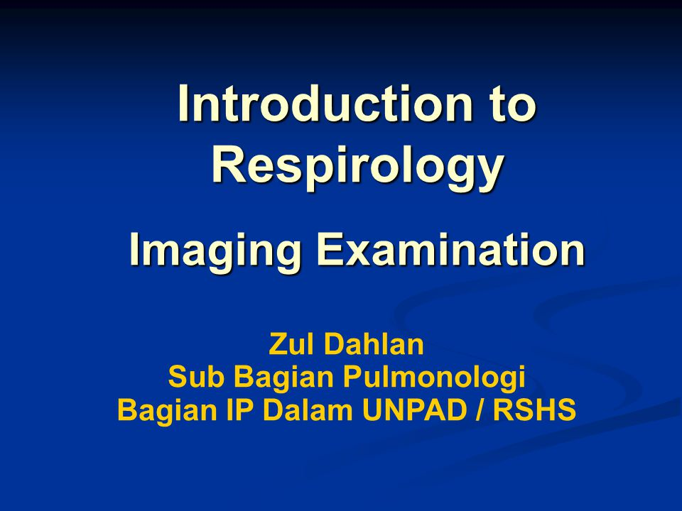 Introduction to Respirology