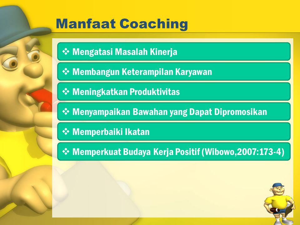 Manfaat Coaching Mengatasi Masalah Kinerja