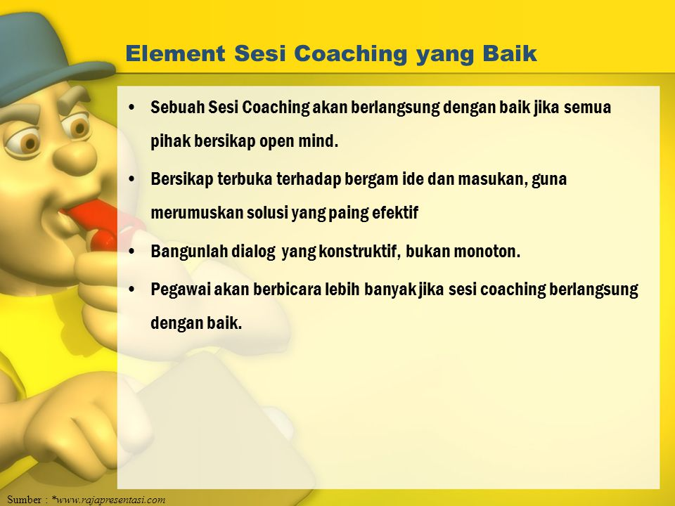 Element Sesi Coaching yang Baik