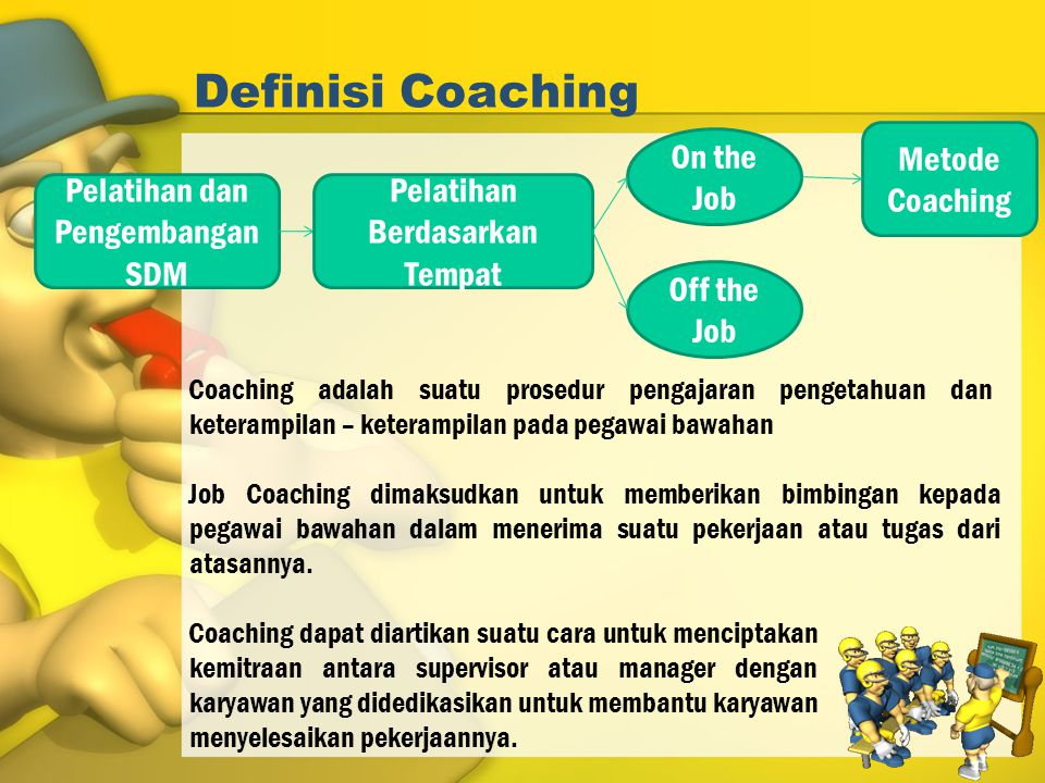 Definisi Coaching On the Job Metode Coaching