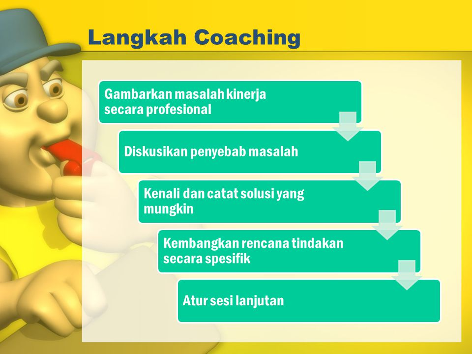 Langkah Coaching Gambarkan masalah kinerja secara profesional