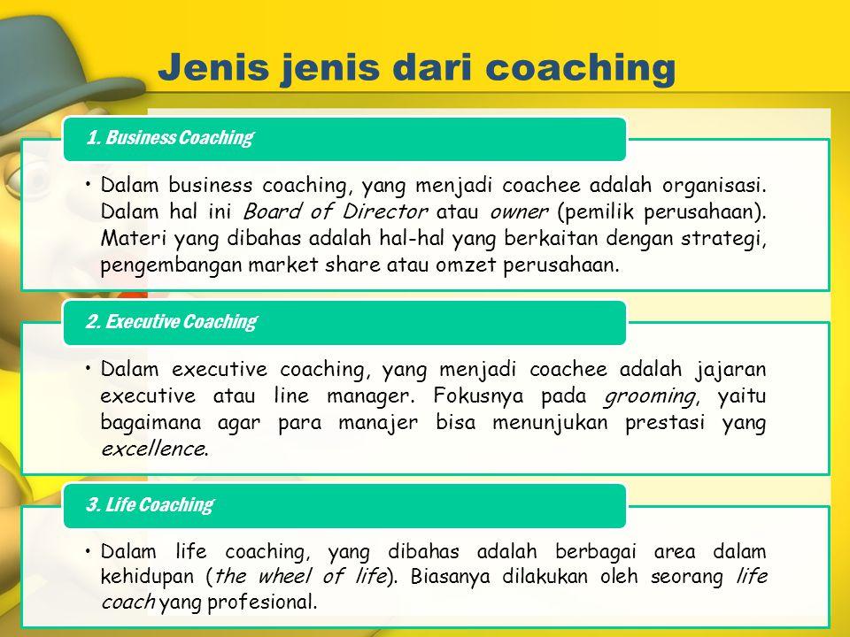 Jenis jenis dari coaching