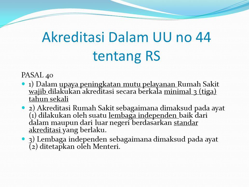 Akreditasi Dalam UU no 44 tentang RS