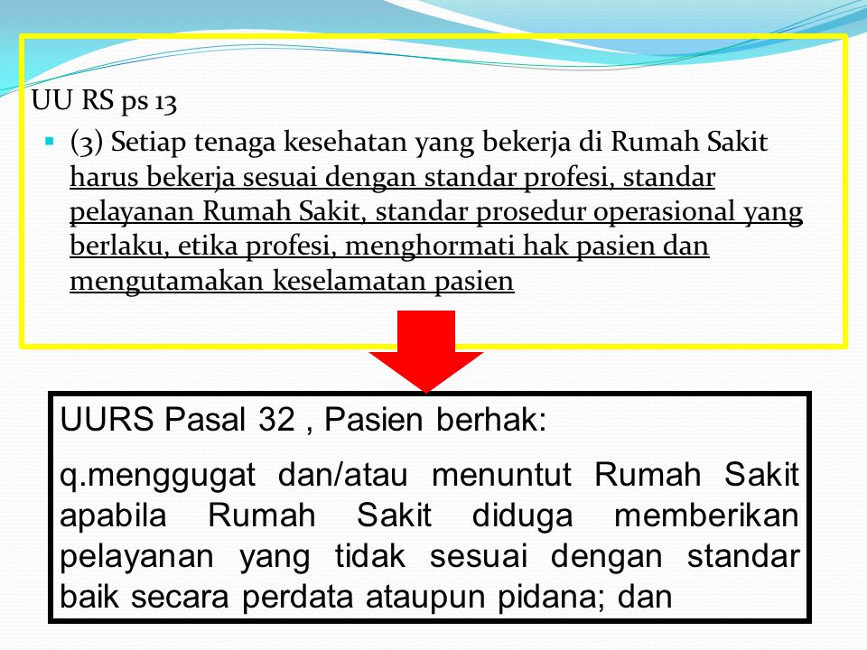 UURS Pasal 32 , Pasien berhak: