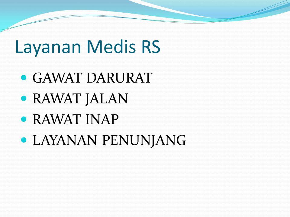 Layanan Medis RS GAWAT DARURAT RAWAT JALAN RAWAT INAP