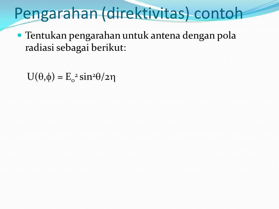 Pengarahan (direktivitas) contoh