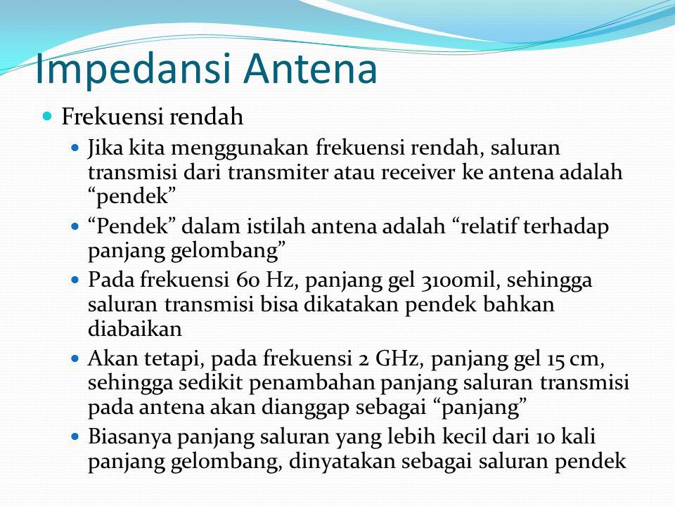 Impedansi Antena Frekuensi rendah