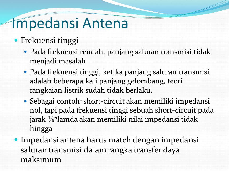 Impedansi Antena Frekuensi tinggi