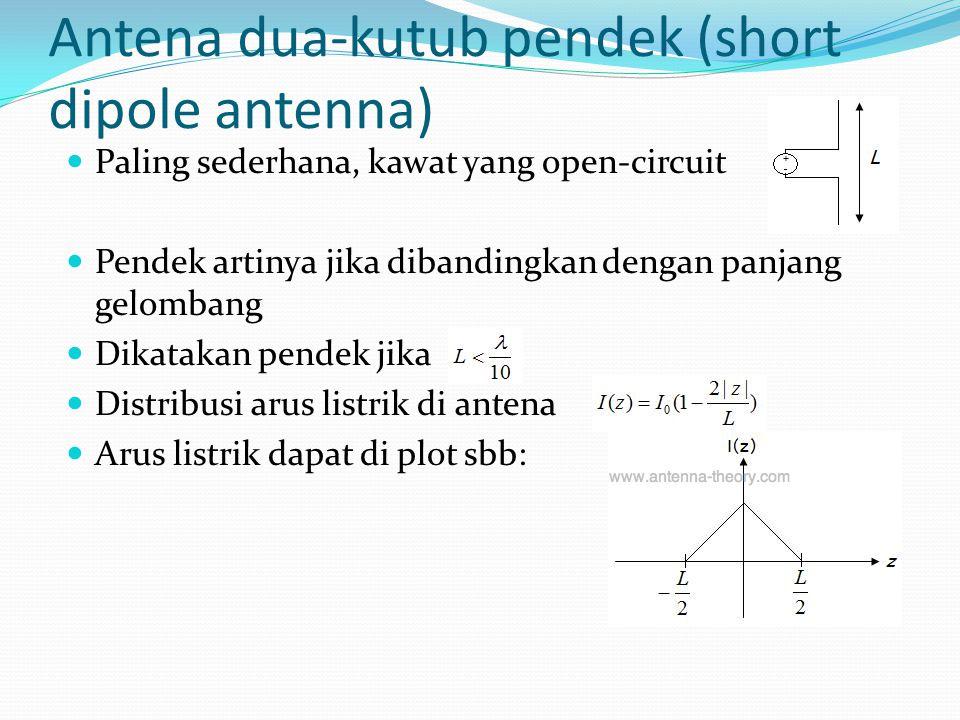 Antena dua-kutub pendek (short dipole antenna)