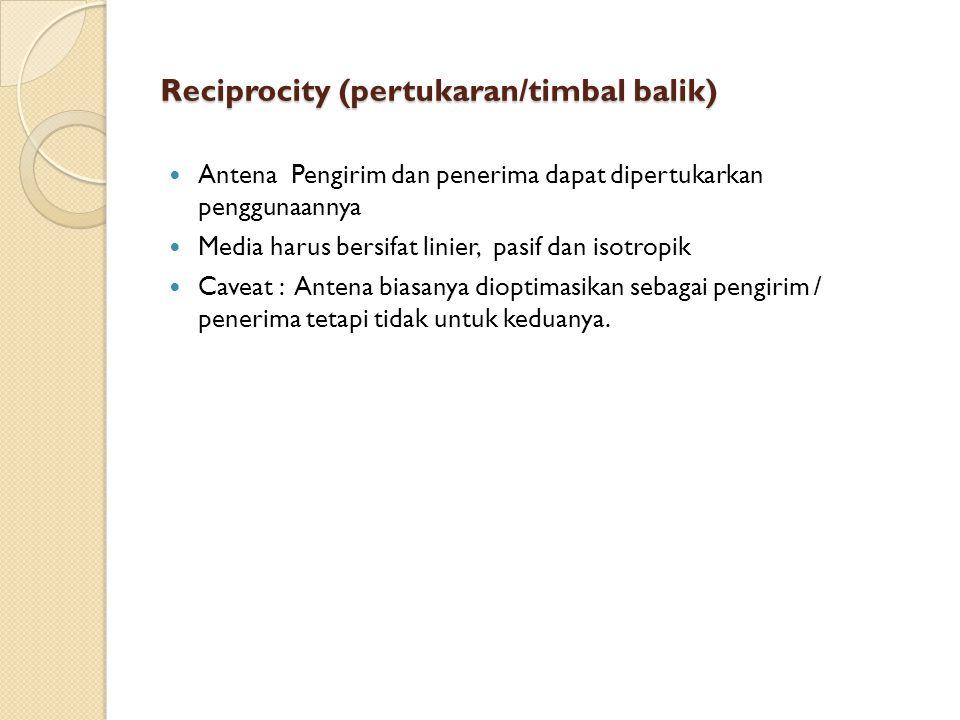 Reciprocity (pertukaran/timbal balik)