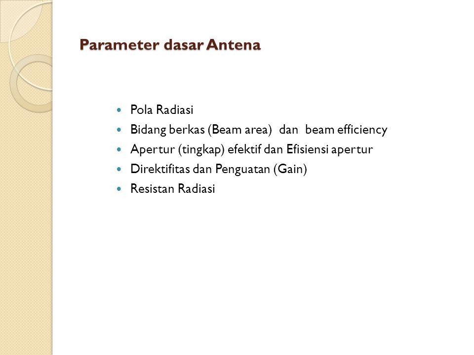 Parameter dasar Antena