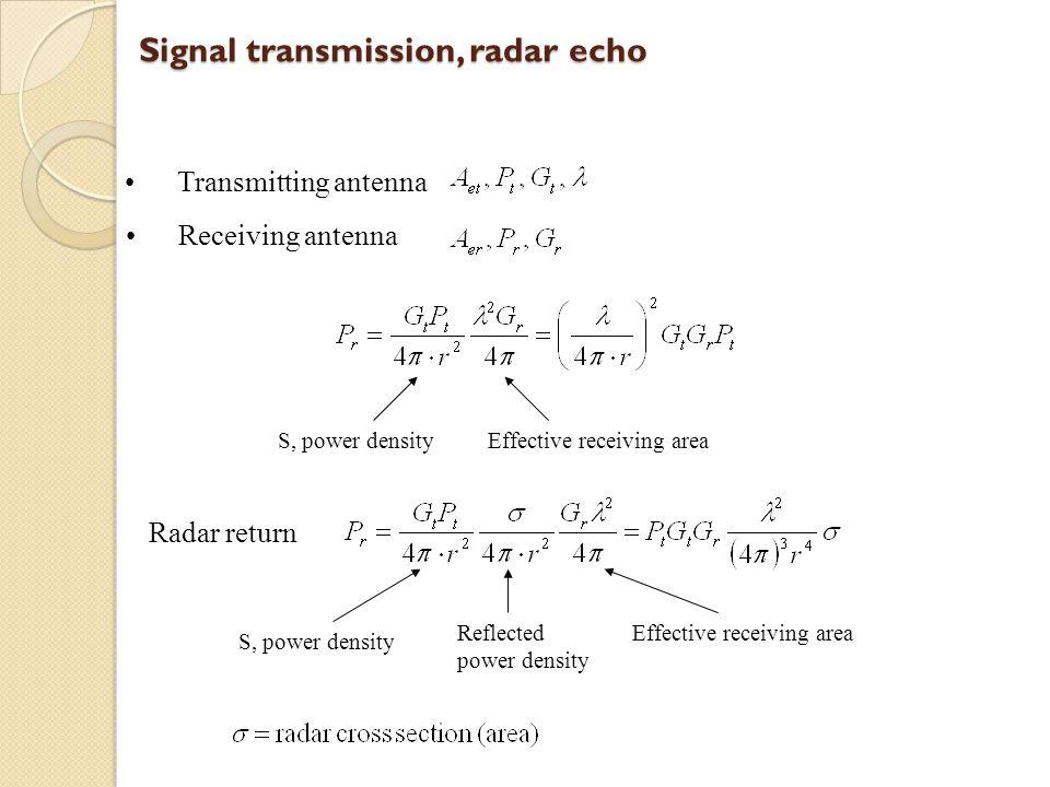 Signal transmission, radar echo