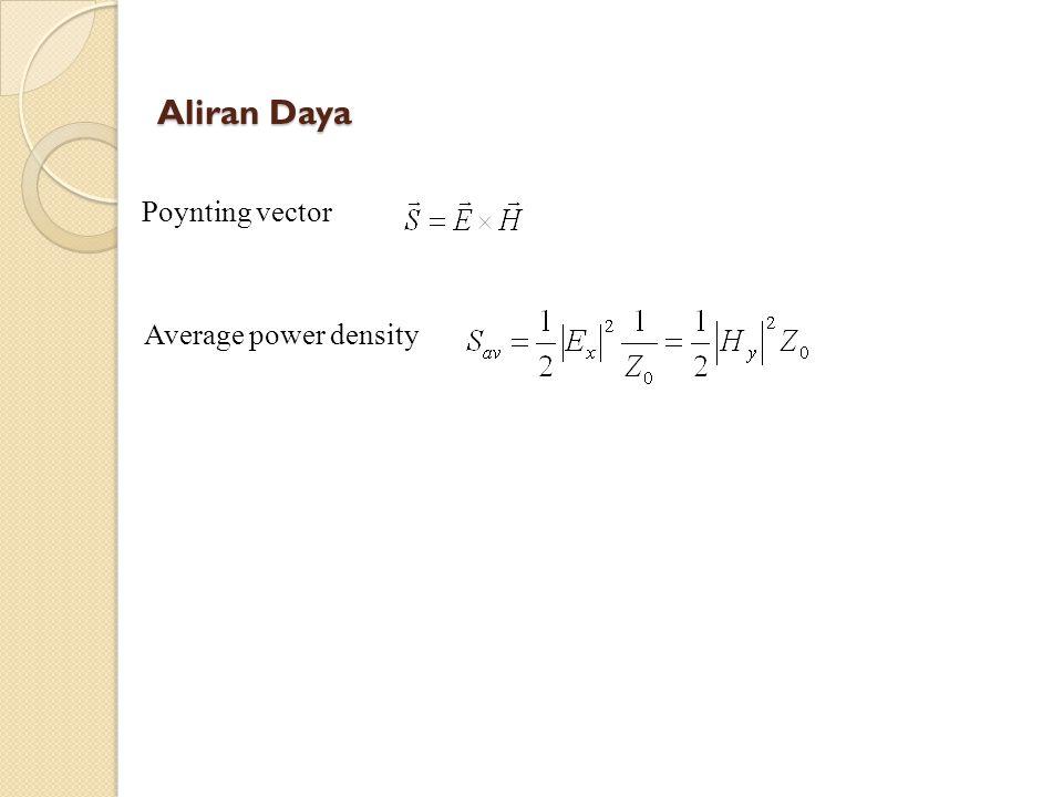 Aliran Daya Poynting vector Average power density