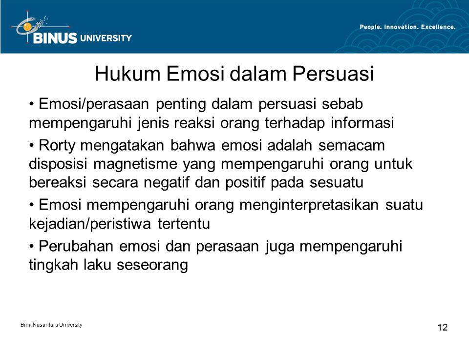 Hukum Emosi dalam Persuasi