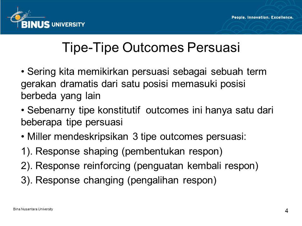 Tipe-Tipe Outcomes Persuasi