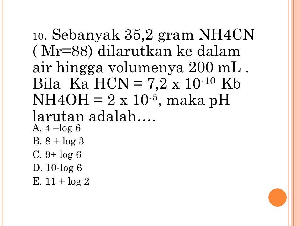 A. 4 –log 6 B. 8 + log 3 C. 9+ log 6 D. 10-log 6 E. 11 + log 2
