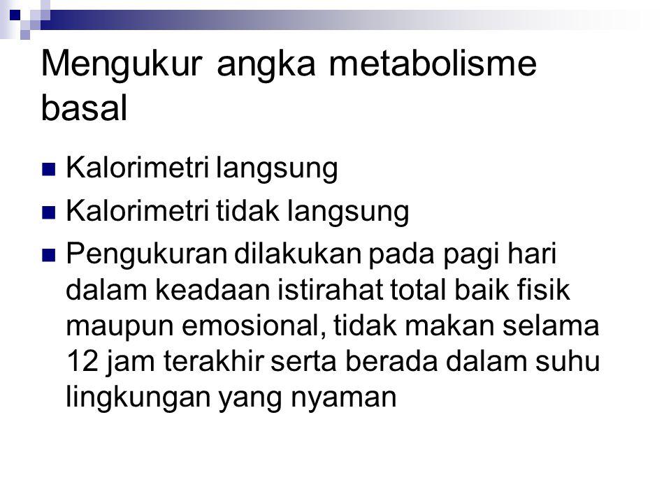 Mengukur angka metabolisme basal