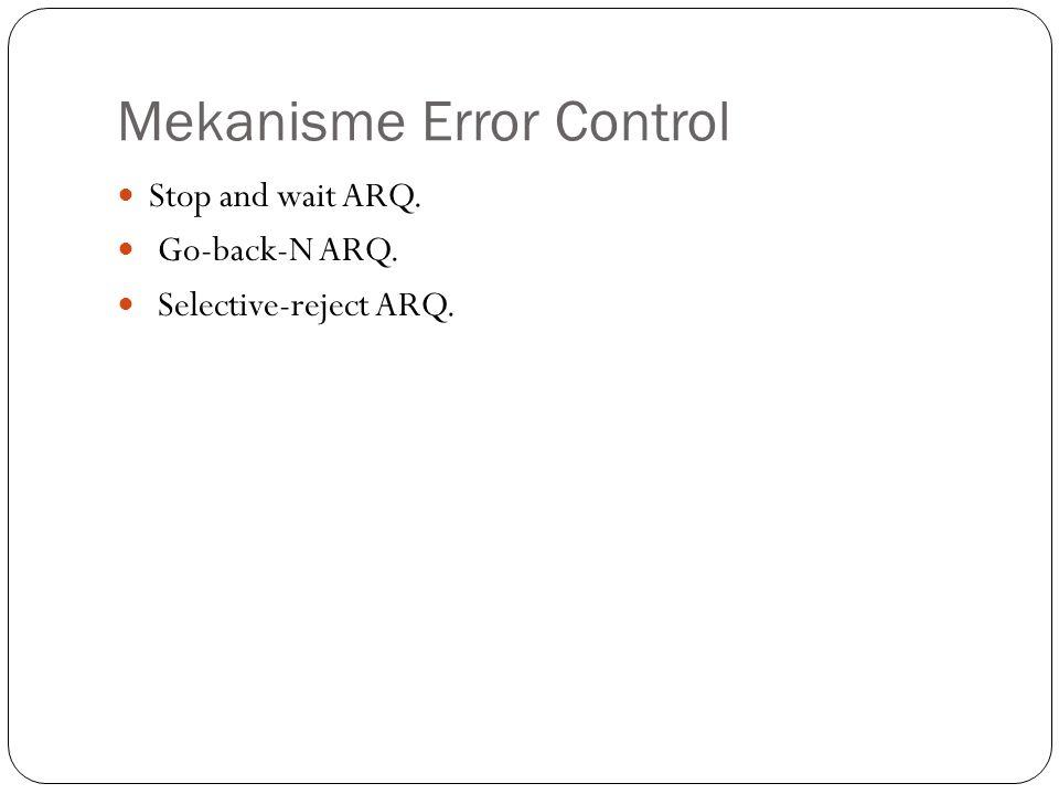Mekanisme Error Control