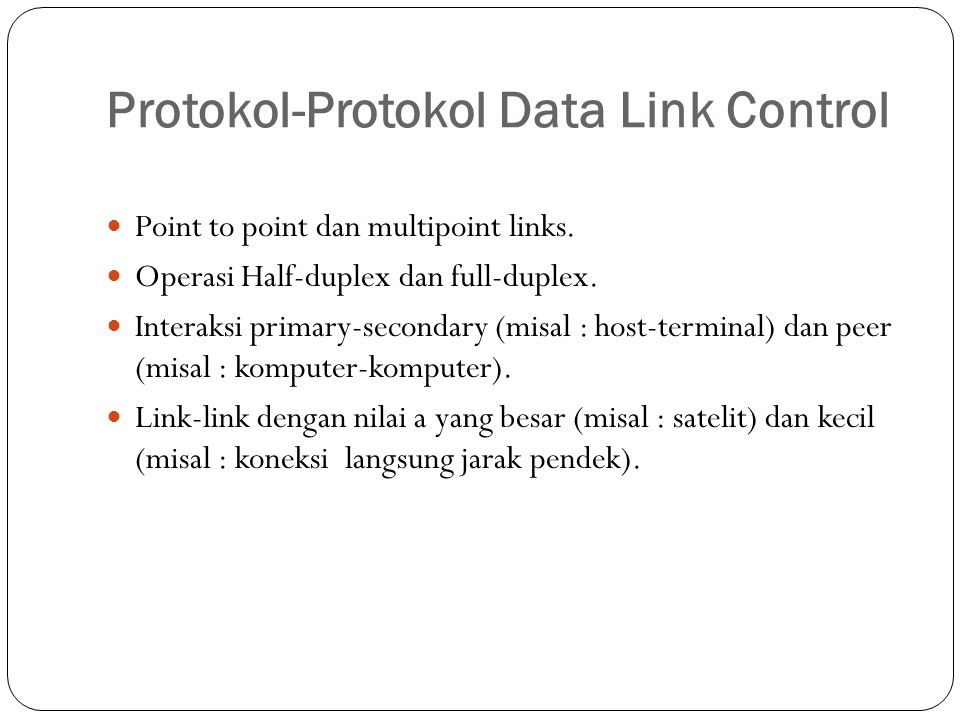 Protokol-Protokol Data Link Control