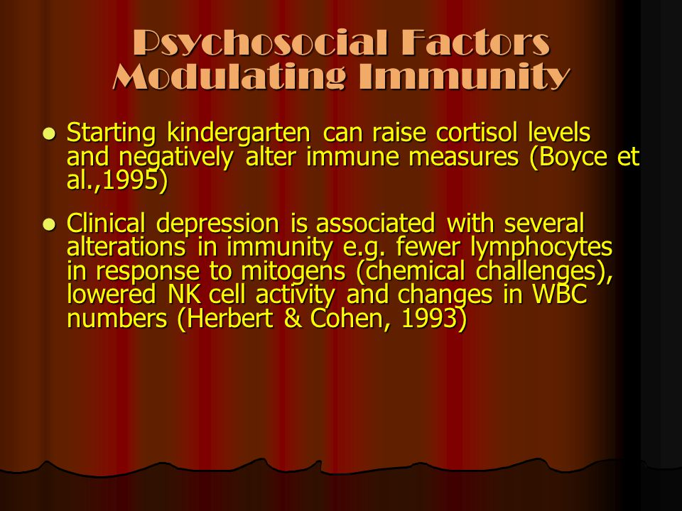 Psychosocial Factors Modulating Immunity