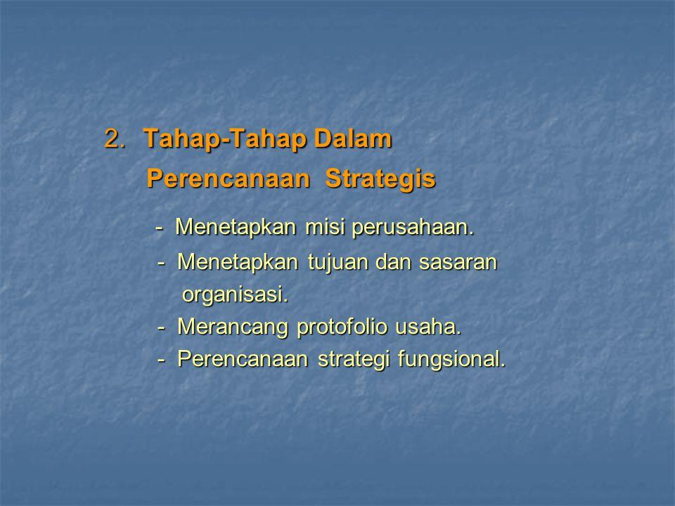 2. Tahap-Tahap Dalam - Menetapkan misi perusahaan.