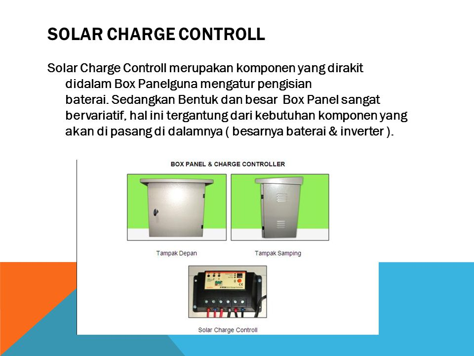 SOLAR CHARGE CONTROLL