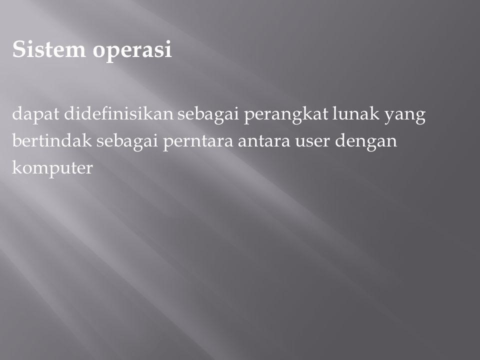 Sistem operasi dapat didefinisikan sebagai perangkat lunak yang