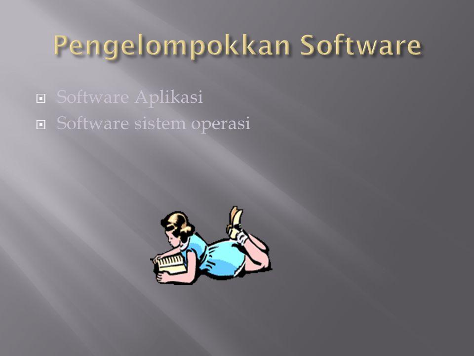 Pengelompokkan Software