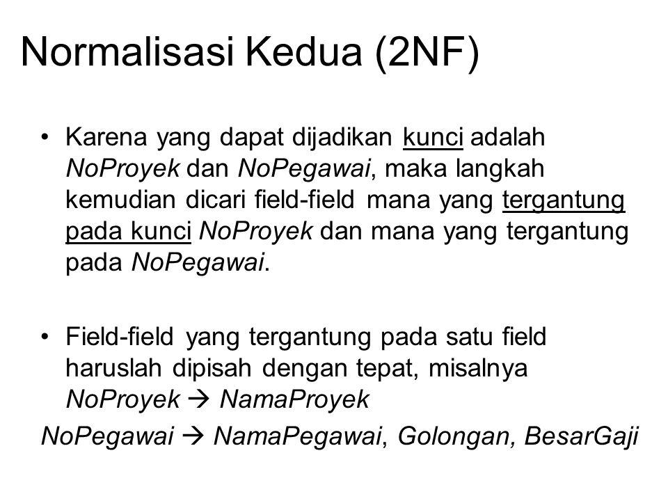 Normalisasi Kedua (2NF)