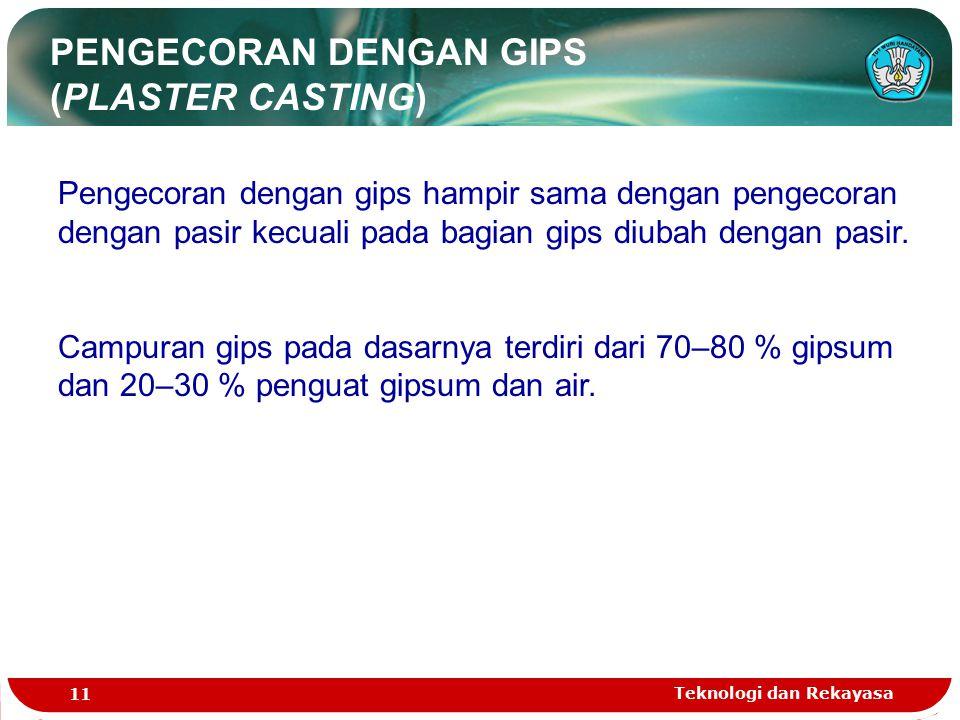 PENGECORAN DENGAN GIPS (PLASTER CASTING)