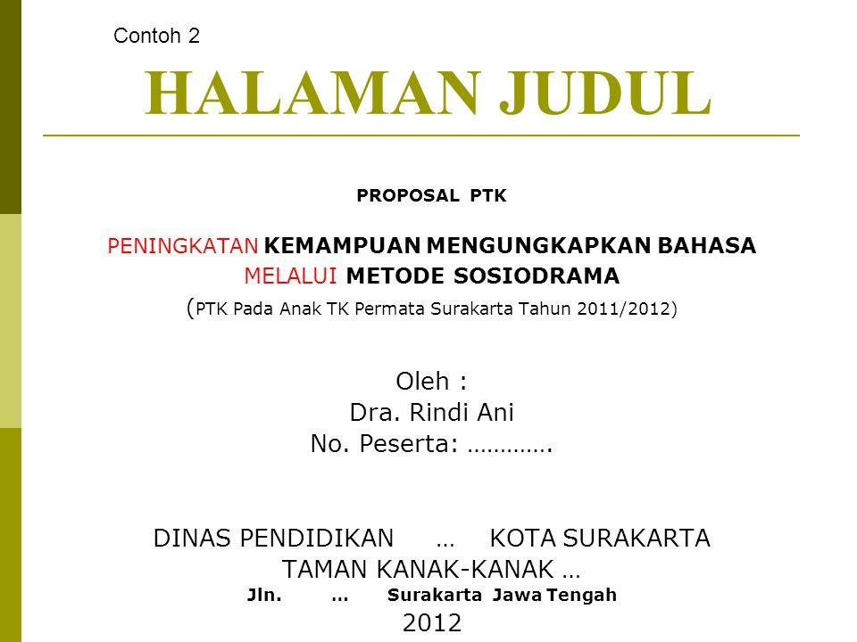 Jln. … Surakarta Jawa Tengah