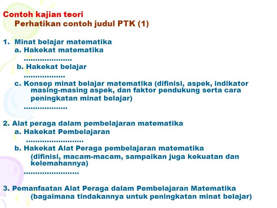 Perhatikan contoh judul PTK (1)