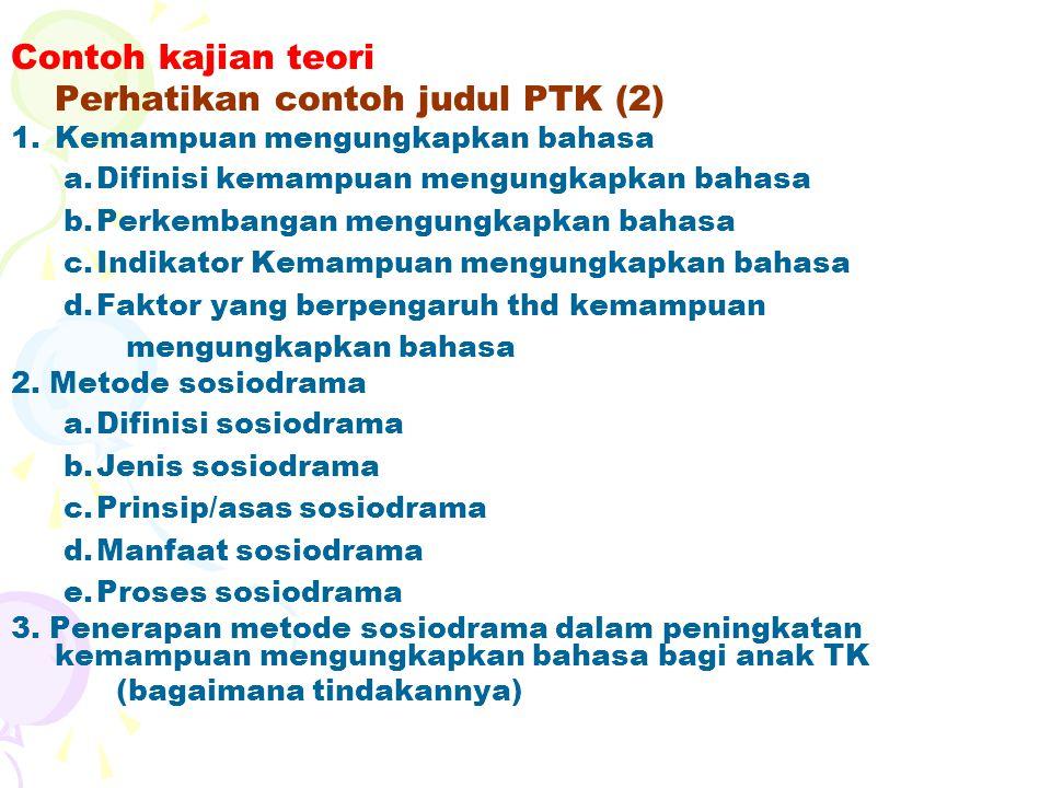 Perhatikan contoh judul PTK (2)