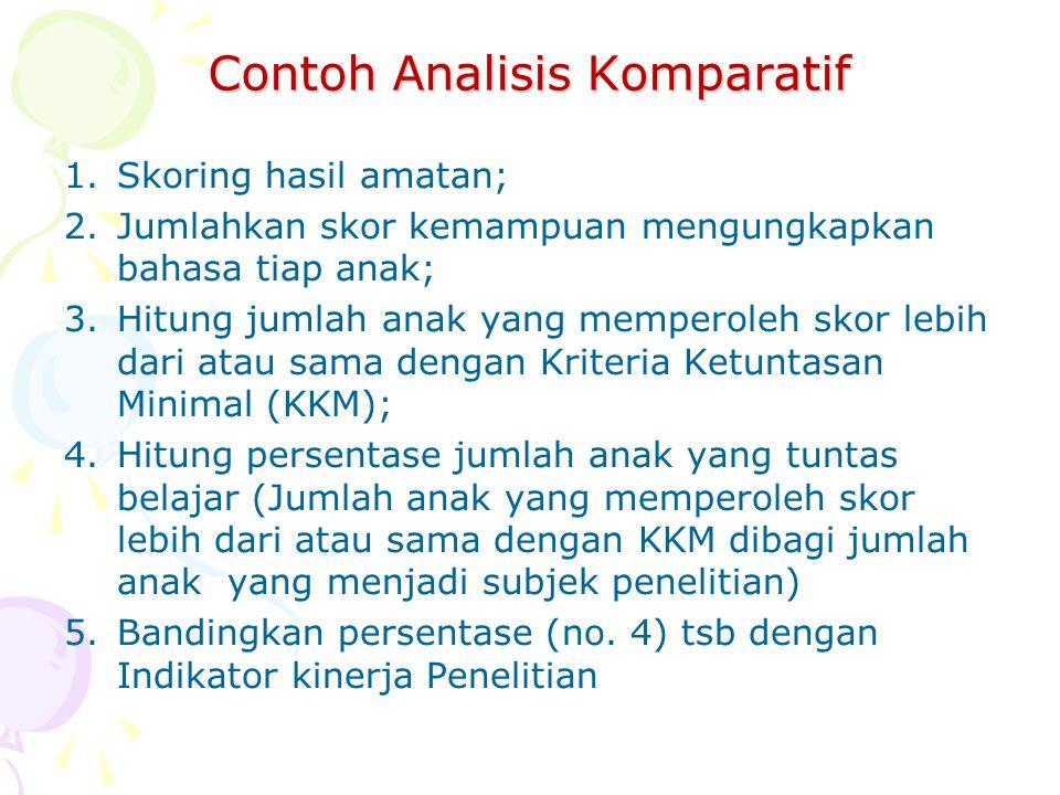 Contoh Analisis Komparatif