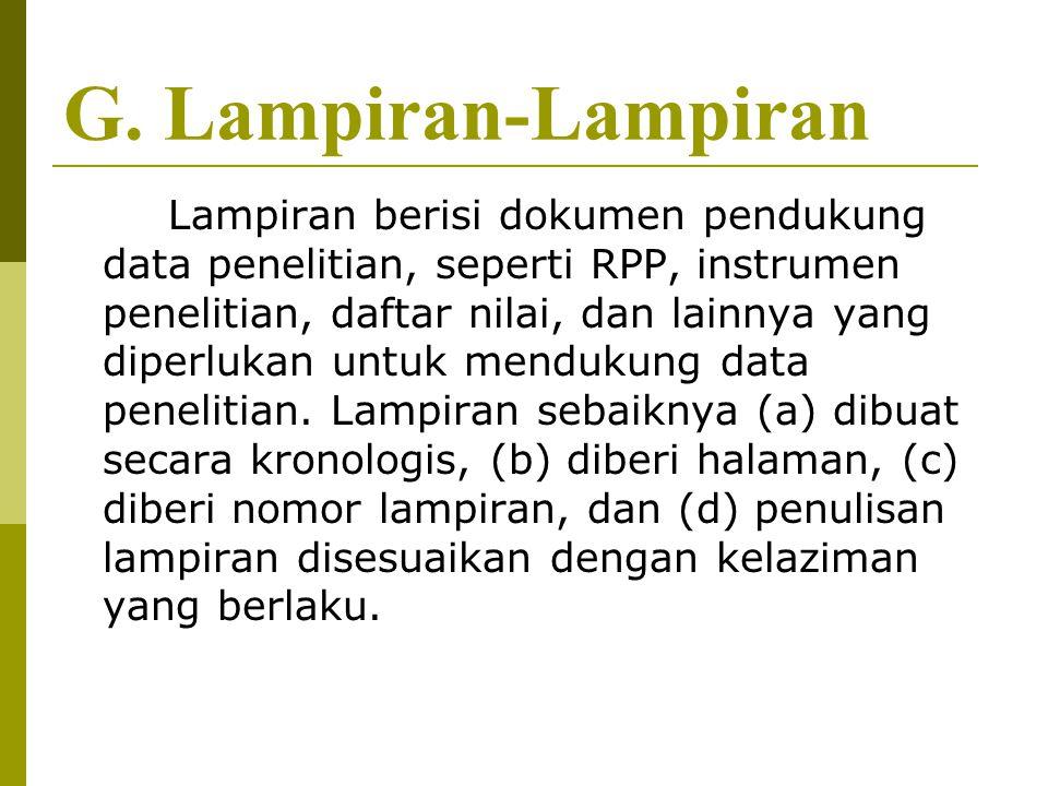 G. Lampiran-Lampiran
