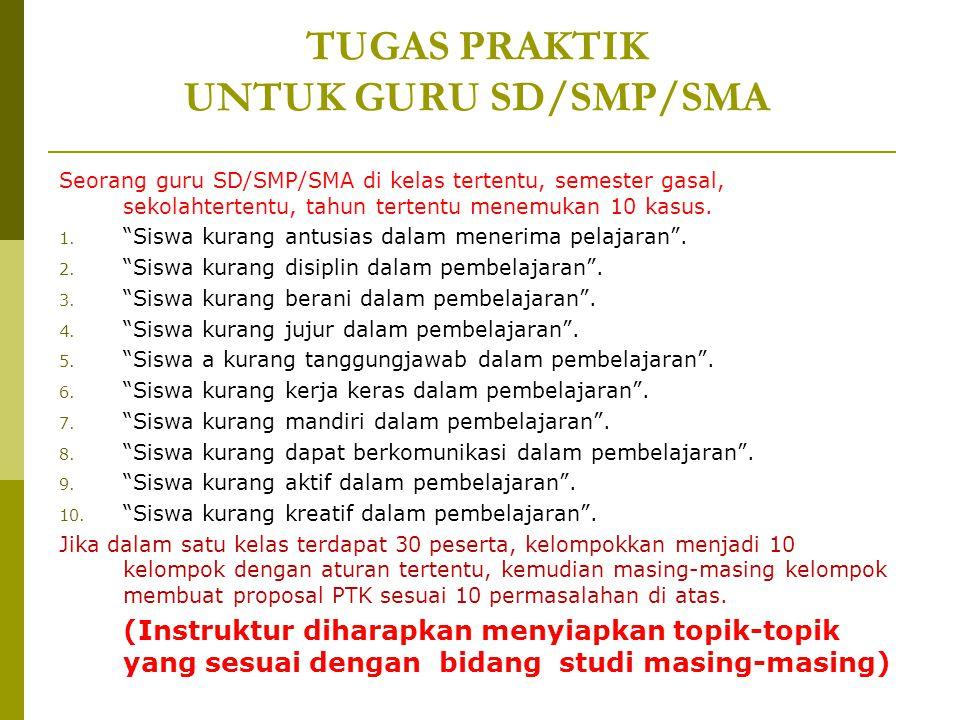 TUGAS PRAKTIK UNTUK GURU SD/SMP/SMA
