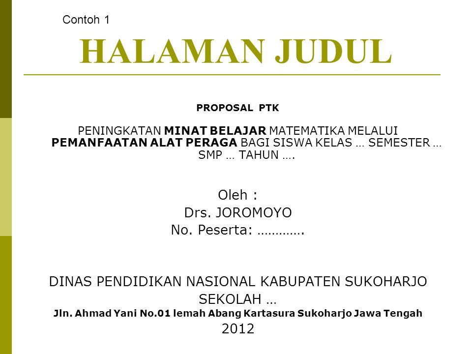 Jln. Ahmad Yani No.01 lemah Abang Kartasura Sukoharjo Jawa Tengah