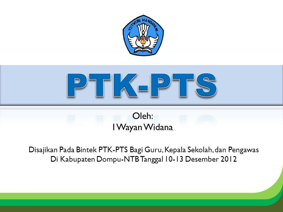 PTK-PTS Oleh: I Wayan Widana