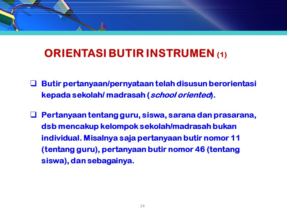 ORIENTASI BUTIR INSTRUMEN (1)