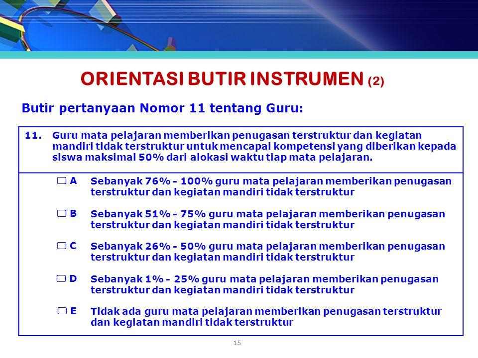 ORIENTASI BUTIR INSTRUMEN (2)