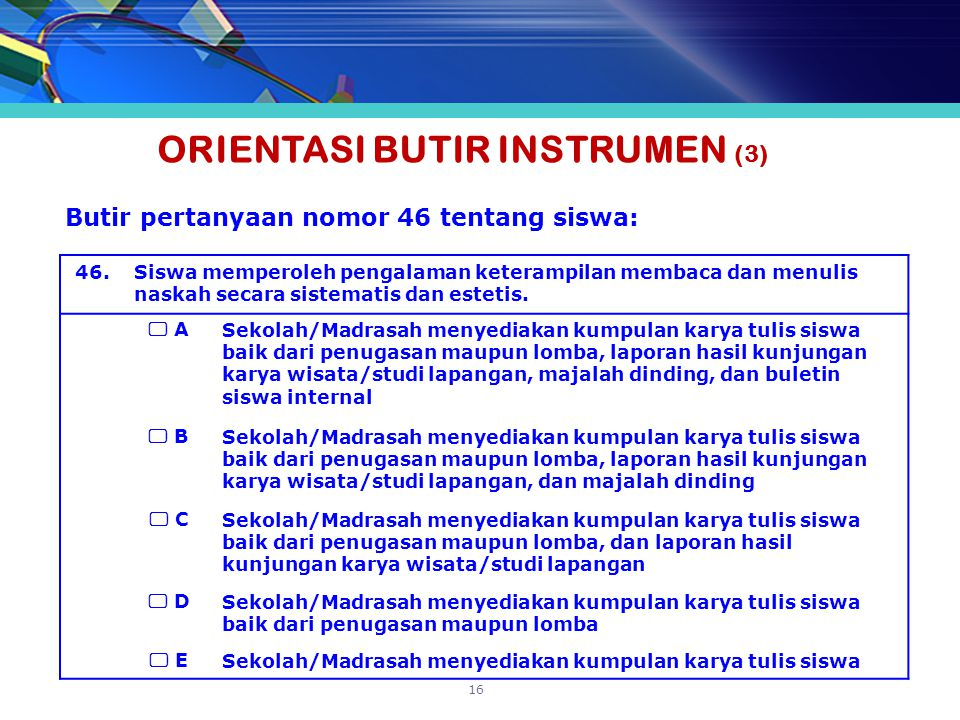 ORIENTASI BUTIR INSTRUMEN (3)