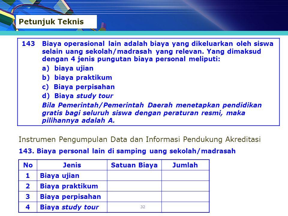 Instrumen Pengumpulan Data dan Informasi Pendukung Akreditasi